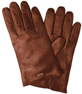 Mark And Graham Men's Italian Leather Touch Screen Gloves