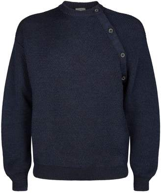 Lanvin Asymmetric Button Sweater