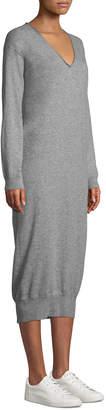 Tomas Maier Cashmere V-Neck Long Sweaterdress