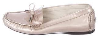 AGL Patent Leather Bow Loafers
