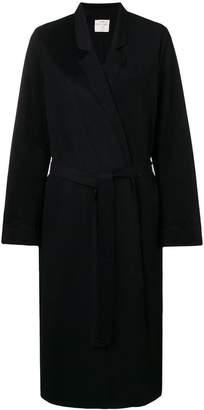 Forte Forte belted single breasted coat