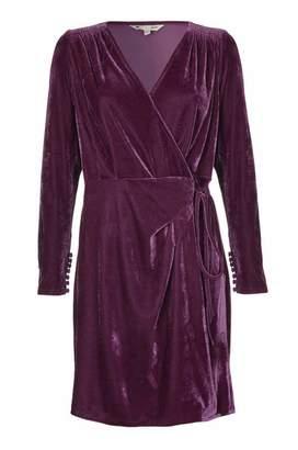 Yumi Velvet Wrap Dress