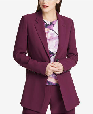 DKNY One-Button Seam-Front Long Jacket, Created for Macy's