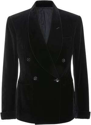Ralph Lauren Double-Breasted Velvet Blazer