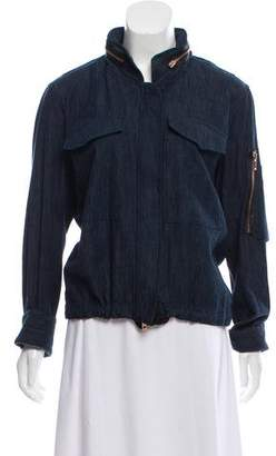 Rag & Bone Denim Zippered Jacket