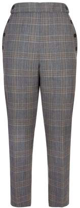 Sandro Check Straight Trousers