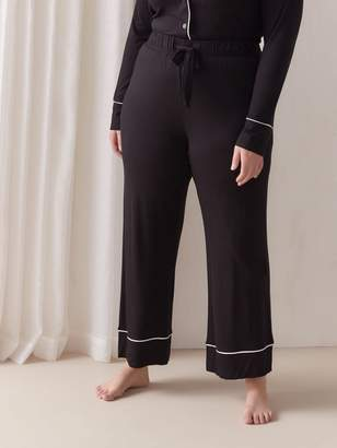 Tailored Pajama Pant with Piping Detail - Deesse Collection