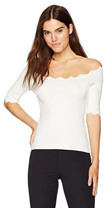 Milly Women's Pointed Scallop Pullover
