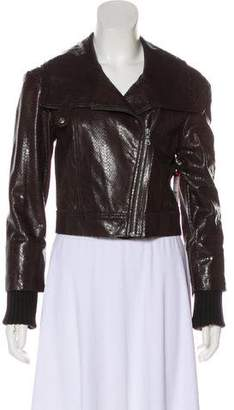 660cd048b21a Alice + Olivia Cropped Leather Jacket w/ Tags