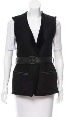 Raoul Belted Shearling Vest