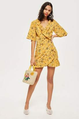 Topshop Tall Off Duty Ruffle Tea Dress