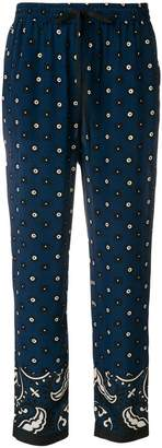 RED Valentino printed drawstring trousers