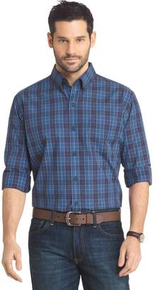 Arrow Big & Tall Regular-Fit Plaid Button-Down Shirt