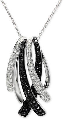 Effy Caviar by Diamond Pendant Necklace (3/4 ct. t.w.) in 14k White Gold