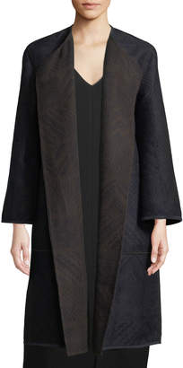 Lafayette 148 New York McCall Geometric Jacquard Reversible Coat
