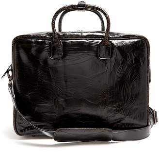 Marc Marmel Benny cracked-leather briefcase