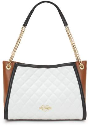 Love Moschino Quilted Logo Faux Leather Tote