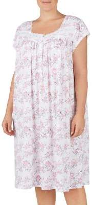 Eileen West Plus Cap-Sleeve Waltz Nightgown