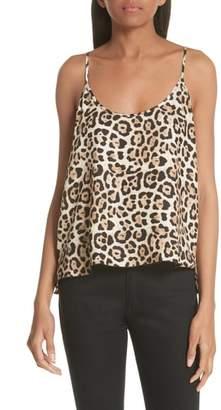 ATM Anthony Thomas Melillo Leopard Print Silk Camisole