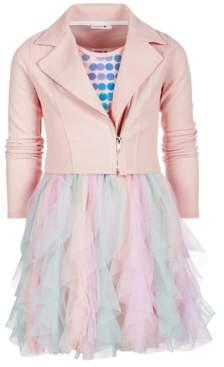 Beautees Big Girls 2-Pc. Moto Jacket & Dress Set
