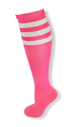 977c87b6139 NeonNation Neon Nation Colored Knee High Tube Socks w  White Stripes