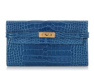 Hermes Kelly Blue Exotic leathers Wallets