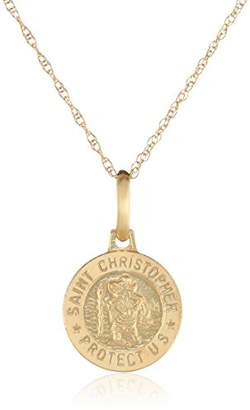 14k Yellow St. Christophers Pendant Necklace