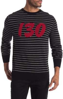 Daniel Won Stripe Cashmere Pullover Sweater