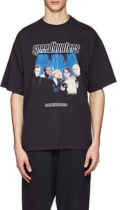 "Balenciaga Men's ""Speedhunter"" Cotton T-Shirt - Black"