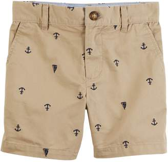 Carter's Toddler Boy Anchor & Boat Schiffli Khaki Shorts