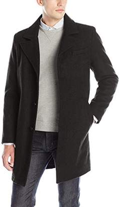 Kenneth Cole New York Men's Single Breasted Wool Walker Coat
