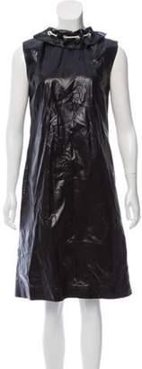 Calvin Klein Drawstring Sleeveless Dress Navy Drawstring Sleeveless Dress
