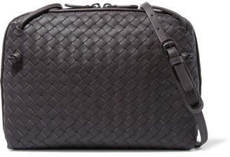 Bottega Veneta Nodini Intrecciato Leather Shoulder Bag - Purple