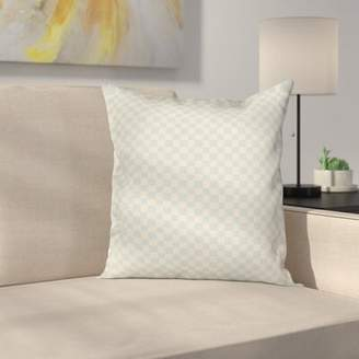 East Urban Home Geometric Checked Ornate Cushion Pillow Cover East Urban Home