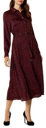 Karen Millen Leopard Print Maxi Shirt Dress