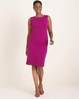 Chico's Chicos Scalloped-Detail Dress