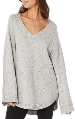 Michael Stars Confetti Curved Hem Tunic Sweater