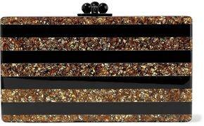 eda80afbf1 Edie Parker Jean Striped Glittered Acrylic Box Clutch