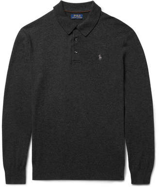 Polo Ralph Lauren Slim-Fit Knitted Cashmere Polo Shirt