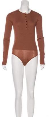 Protagonist Virgin Wool & Silk-Blend Bodysuit