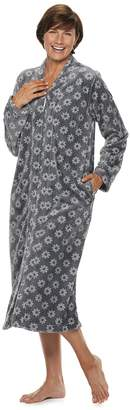 Croft & Barrow Women's Plush Zip Robe