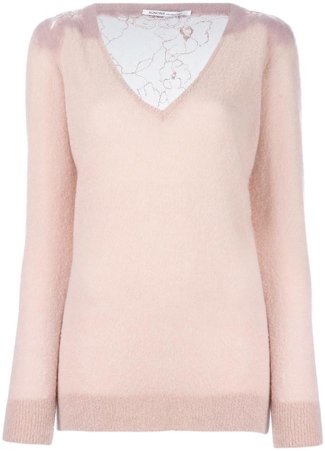 AgnonaAgnona v-neck jumper
