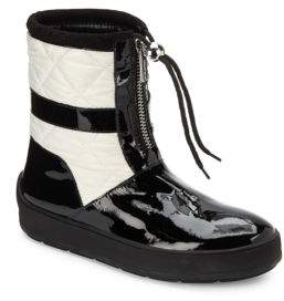 Aquatalia Kali Patent Leather & Quilted Short Boots