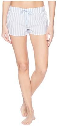 PJ Salvage Denim Blues Striped Shorts Women's Pajama