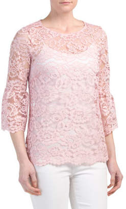 Lace Mini Bell Sleeve Top