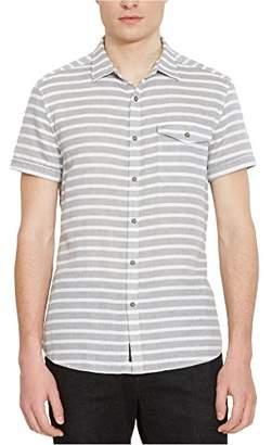 Kenneth Cole Reaction Men's Short Sleeve Double Face Stripe