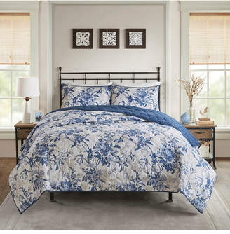 Madison Home USA Abigail King/California King 3-Pc. Cotton Printed Ruffle Duvet Cover Set Bedding
