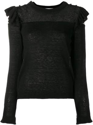 Philosophy di Lorenzo Serafini lace pattern sweater
