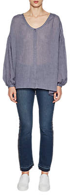 French Connection Betsy Draped Top, Indigo