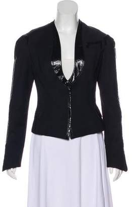 Dolce & Gabbana Faux Leather-Trimmed Evening Jacket